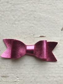 Strik leer metallic roze 5.5 cm