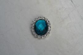 Flatback rhinestone ovaal blauw