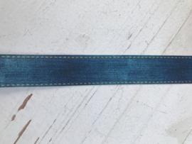 Sierband jeans/denim met stiksel