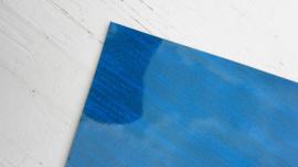 Leer glimmend glitter /streep motief blauw