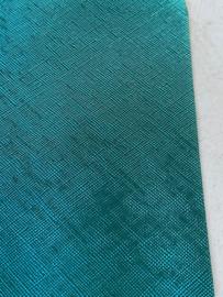 Leer metallic turquoise