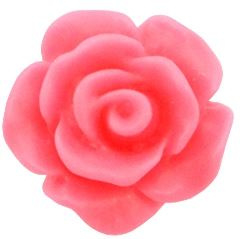 Roos kraal coral roze 10mm acryl