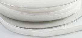 Velvet/fluweel band wit  6 mm