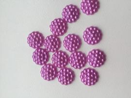 Flatback Parelmoer bolletjes fuchsia/roze