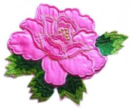 A056d Grote licht roze roos met blad