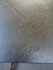Leer metallic zilver