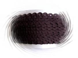Zigzagband bruin 5mm