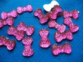 Strikje hot pink 1.3 cm
