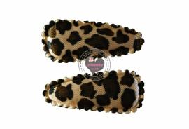 Kniphoesje baby satijn panter/tijger
