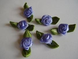 Roosjes met blad lila 2cm