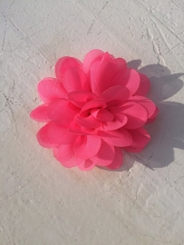 Chiffon bloem neon pink 7cm