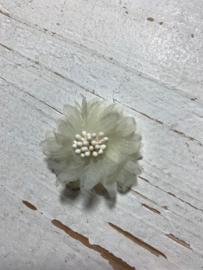 Vintage bloem ivoor 4cm
