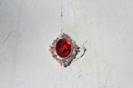 Flatback rhinestone rood