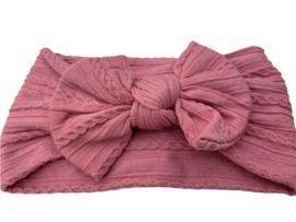 Haarbandje knoop dusty pink / oud roze