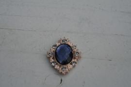 Flatback rhinestone donkerblauw