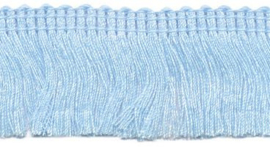 Franjeband licht blauw 30 mm