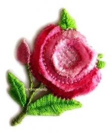 A0188 Roze bloem opstrijk