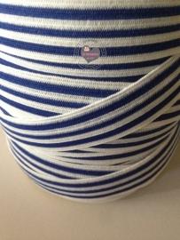 Elastisch blauw wit gestreept 1,8 cm