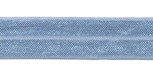 Elastisch biasband licht blauw  2cm
