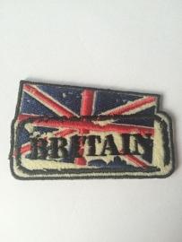 Opstrijk applicatie Engelse vlag met tekst