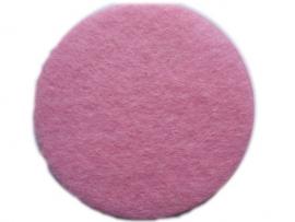 Wol vilten rondjes licht roze 2.5cm pst