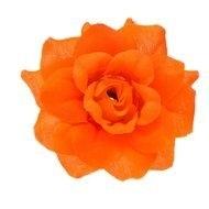 Roos neon oranje stof 4,5cm