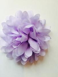 Bloemen chiffon 11 cm lila