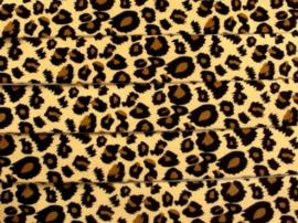 Elastisch band tijger/panter 2.5cm