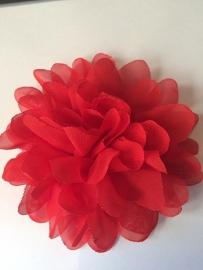Bloemen chiffon 11 cm rood
