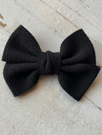strik dubbel zwart stof 11cm
