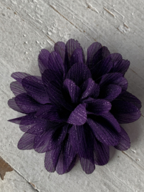 Glitter Bloem paars 7 cm
