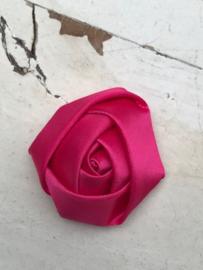 Bloem satijn roos hot pink