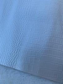 Krokodillenprint leer parelmoer off white