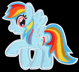 My little pony Rainbow Dash strijkapplicatie