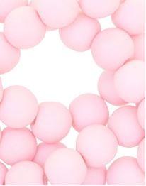Kralen acryl mat 10 mm licht roze