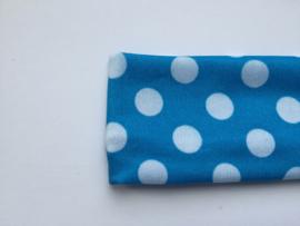 Haarband blauw polkadot groot