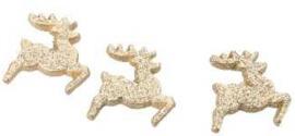 Rendier goud glitter