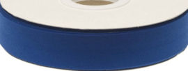 Biasband royal blue/kobalt blauw katoen