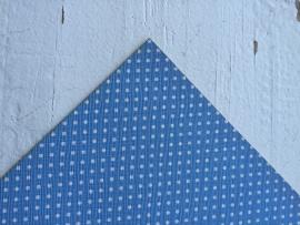 Leer polkadot licht blauw