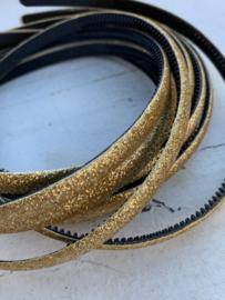 Diadeem glitter royal blue 1cm