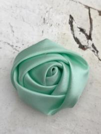 Bloem satijn roos mint