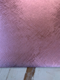 Leer metallic roze