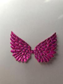 Vleugels hot pink glitter