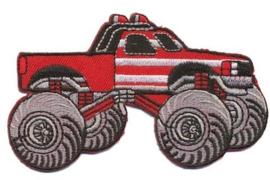 Opstrijk applicatie Monster truck rood