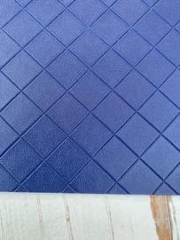 Leer structuur blokken royal blue/kobalt