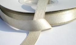 Ivoor satijnband  met glinster