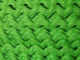 Zigzagband appeltjes groen 5mm