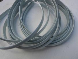 Diadeem satijn zilver grijs 1cm