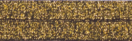 Elastisch biasband goud glitter op zwart  2cm breed