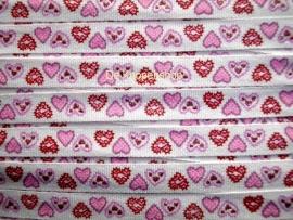 Hartjes band licht roze